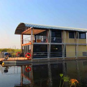 A double story river villa in the Caprivi of Namibia