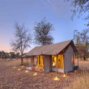A tented suite at Ubuntu bush and beach
