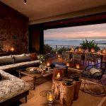 Lounge area at Bumi Hills overlooking Lake Kariba