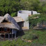 Aerial view of a guest chalet at Ol Donyo lodge