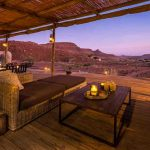 View from a deck over the plains of Damaraland