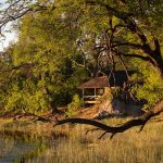 A guest chalet on the banks of the Savuti Channel