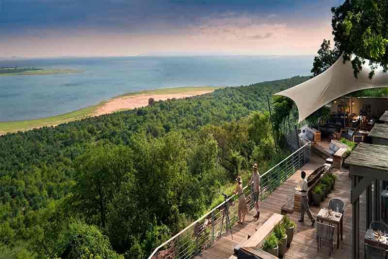 Bumi Hills deck overlooking Lake Kariba