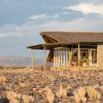 A guest chalet in the deserts of Namibia