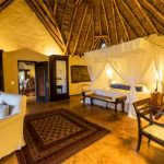 Interior of a guest suite at Ol Donyo