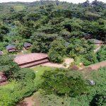 Aerial view of Buhoma Lodge