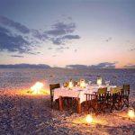 desert, dinner, makgadikgadi pans, africa