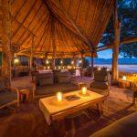 chamilandu, dining area, river, view, bush, africa, zambia, south luangwa, african safari experts