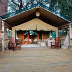 Meru tent at Gunns Camp in the Okavango Delta