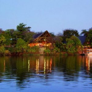 View over the Chobe river of Chone Safari Lodge in Botswana