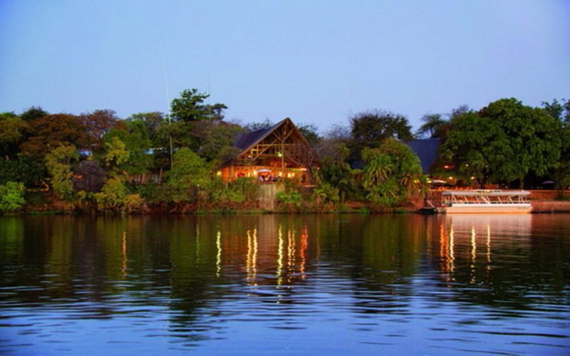 View over the Chobe river of Chone Safari Lodge in Botswana