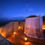 A bed under a mosquito net at Ol Donyo