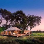A guest suite at &Beyond Nxabega at the waters edge