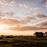 A house on an open plain in the masai mara