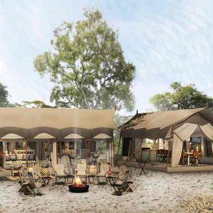 3d image of Nxai Pans Migration camp