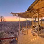 A guest suite at jabali Ridge with views over the African bush