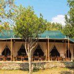 Main dining tent of Entim Mara Camp