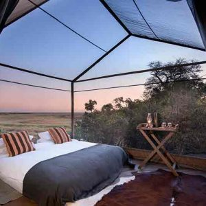Sleep out under the stars at Linyanti Expeditions camp