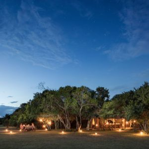 Encounter Mara safari camp at night