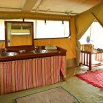 Kenya Ol Pejeta guest tent bathroom