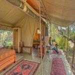 Kenya Ol Pejeta guest tent interior