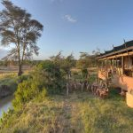 Kenya Ol Pejeta main camp area sundowner drinks with guests