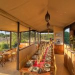 Kenya Ol Pejeta main lodge area and dining table
