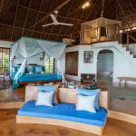 Matemwe lodge main bedroom with mezzanine