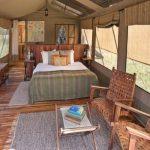 Olakira en suite double guest chalet with wood deck platform
