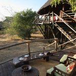 Siwandu elevated dining area overlooking wildlife