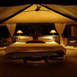 Siwandu guest suite bedroom at night