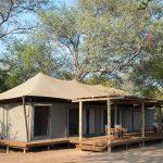 Ruckomechi camp guest tent with veranda