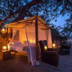 Ruckomechi camp sleep out deck in Mana Pools