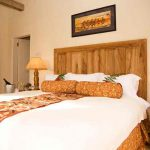 Guest suite at clouds lodge with double bed