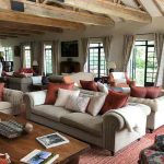 Main lounge area with couches at clouds lodge