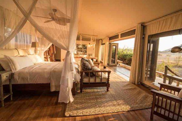Guest suite at Chikwenya lodge